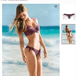 Victoria secret Bikini , Metallic Burgundy